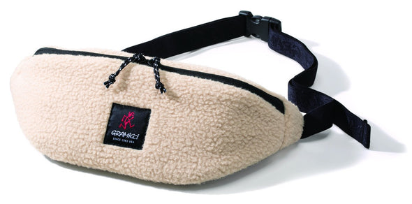 Gramicci Boa Fleece Waist Pack in Ivory