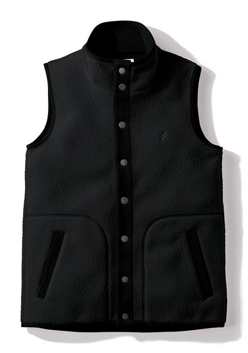 Gramicci Boa Fleece Gilet Vest in Black