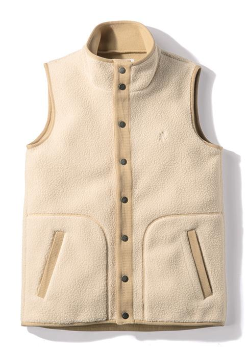 Gramicci Boa Fleece Gilet Vest in Ivory
