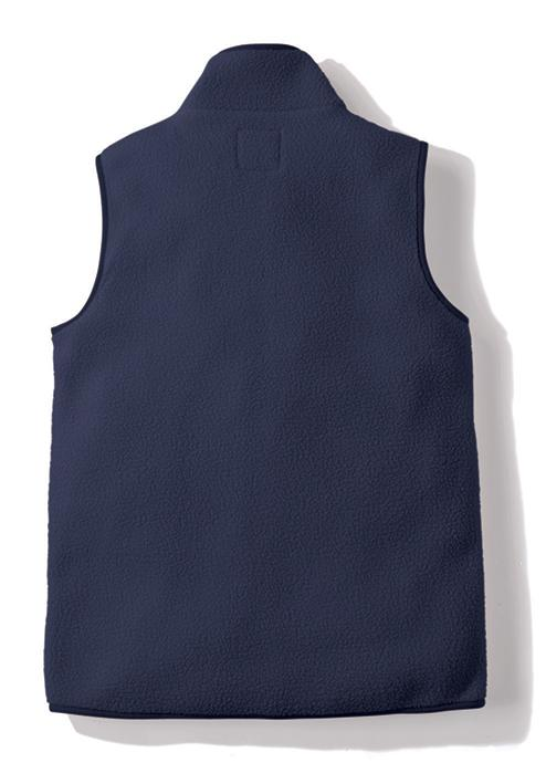 Gramicci Boa Fleece Gilet Vest in Navy (Rear View)