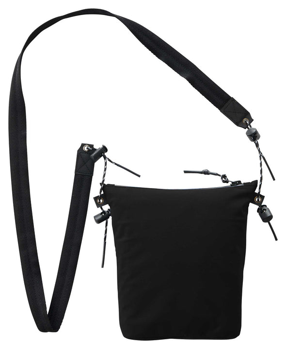 Gramicci 3 Layer Chalk Bag (Black) with Shoulder Strap Rear View