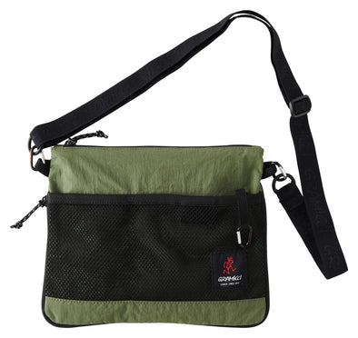 Gramicci Adjustable Sacoche Shoulder Bag (Olive) Front View