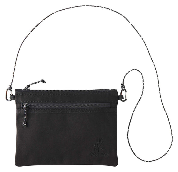 Gramicci Cotton Twill Sacoche Compact Shoulder Bag (Black)