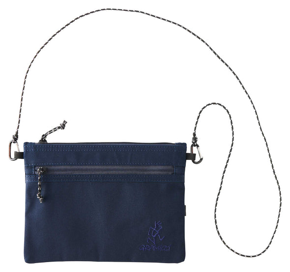 Gramicci Cotton Twill Sacoche Compact Shoulder Bag (Double Navy)