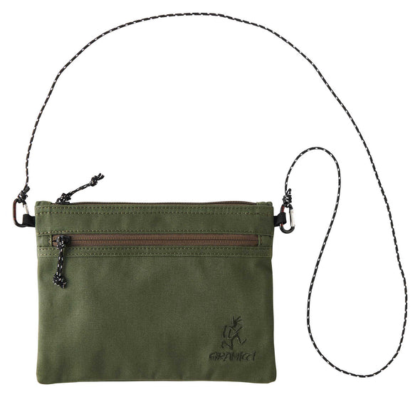 Gramicci Cotton Twill Sacoche Compact Shoulder Bag (Olive)