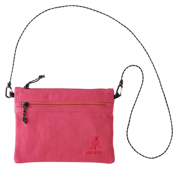 Gramicci Cotton Twill Sacoche Compact Shoulder Bag (Raspberry)