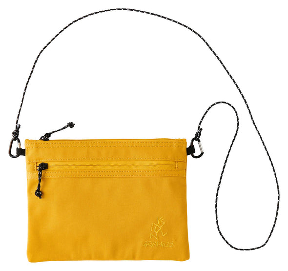Gramicci Cotton Twill Sacoche Compact Shoulder Bag (Yellow)