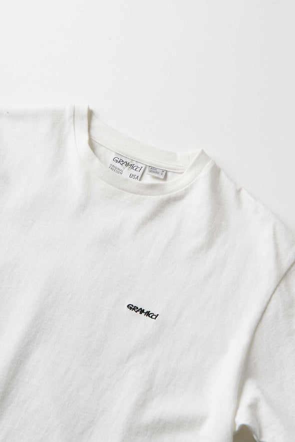 Gramicci G Cotton T-Shirt (White) Collar Detail
