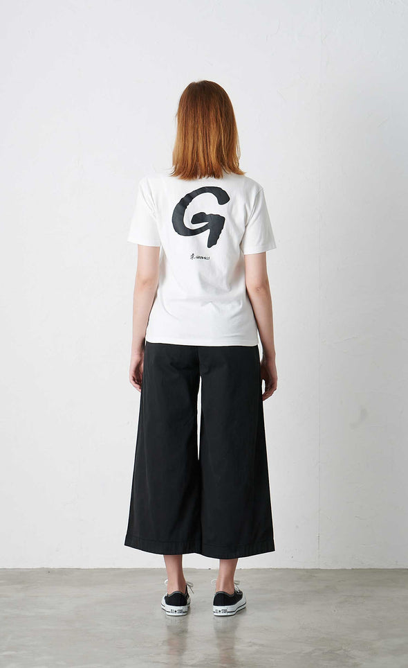 Model wearing Gramicci G T-Shirt (White) Rear Profile