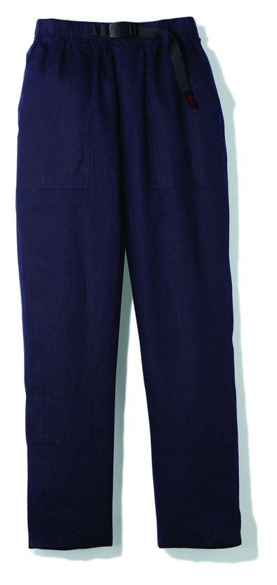 Gramicci Linen Cotton Loose Tapered Pants in Navy
