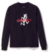 Gramicci Jersey Cotton Long Sleeve Logo T-Shirt in Black