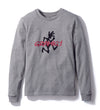 Gramicci Jersey Cotton Long Sleeve Logo T-Shirt in Heather Grey