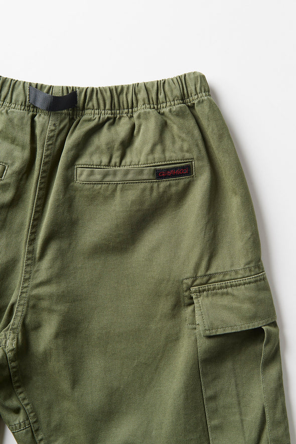 Gramicci Cotton Twill Cargo Shorts (Olive) Rear Pocket Detail