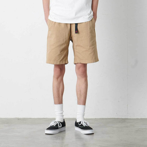 Model Wearing Gramicci Cotton G-Shorts (Chino)
