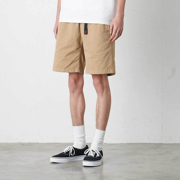Model Wearing Gramicci Cotton G-Shorts (Chino) Side View