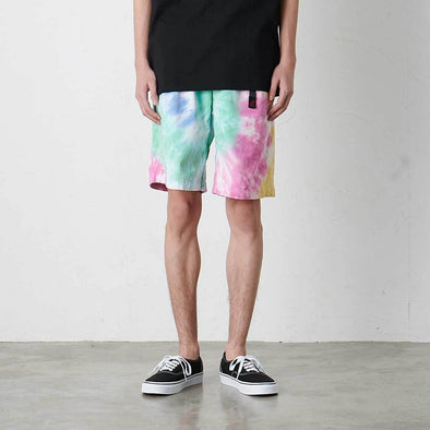 Model wearing Gramicci Tie Dye G-Shorts