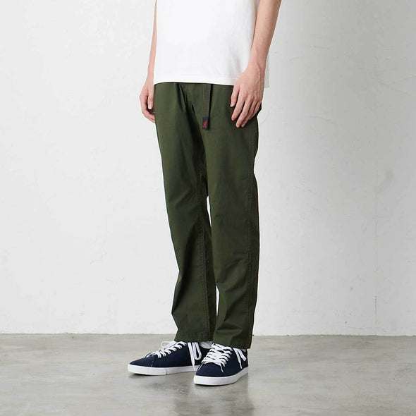 Model wearing Gramicci Weather Cotton Stretch NN-Pants Just Cut Side View