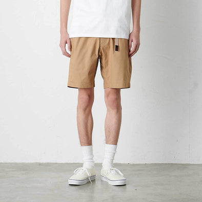Model wearing Gramicci Weather Cotton NN-Shorts