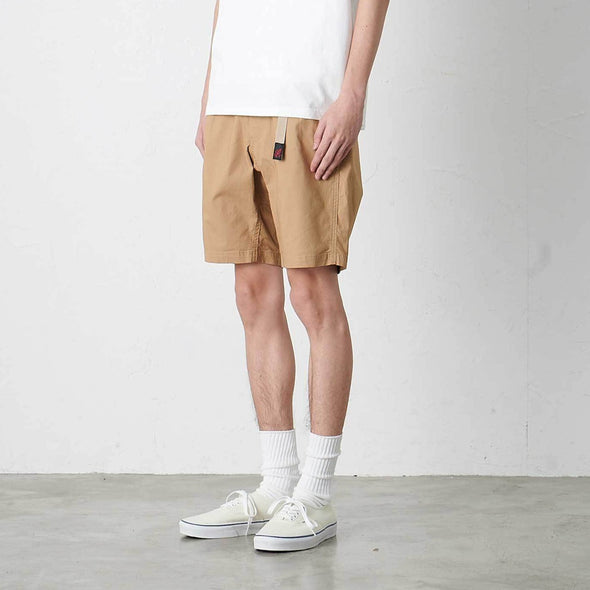 Model wearing Gramicci Weather Cotton NN-Shorts Side View