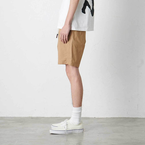 Model wearing Gramicci Weather Cotton NN-Shorts Side Profile