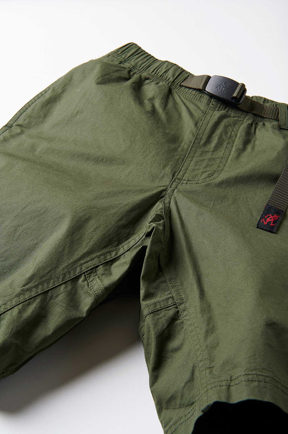 Gramicci Weather Cotton NN-Shorts (Deep Olive) Gusset Crotch Detail