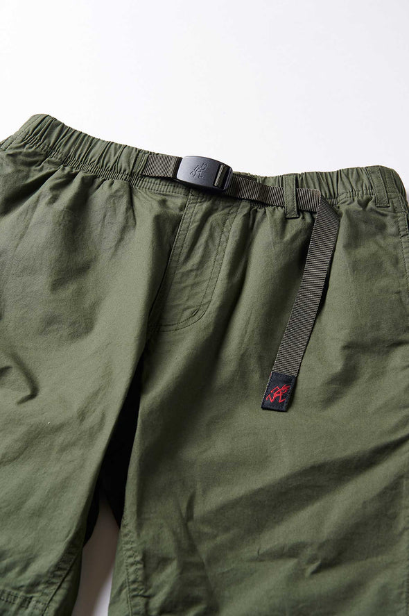 Gramicci Weather Cotton NN-Shorts (Deep Olive) Waist Belt Detail