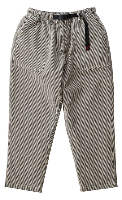 Gramicci Cotton Pinstripe Sucker Loose Tapered Pants (Ivory)