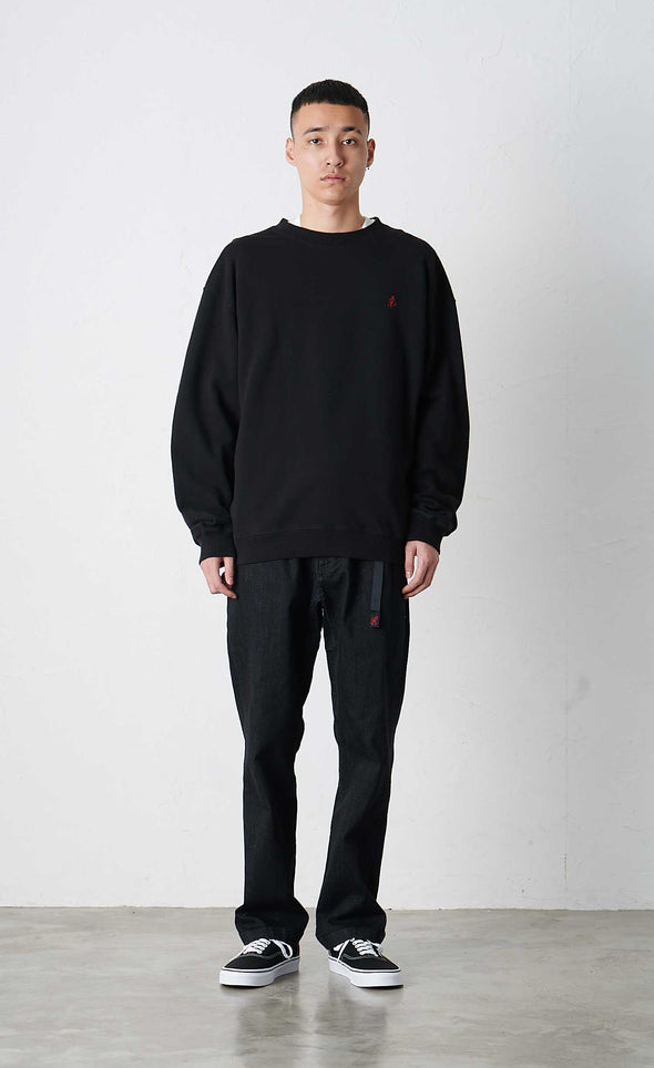 Male Model wearing Classic Cotton Gramicci Sweatshirt (Black)