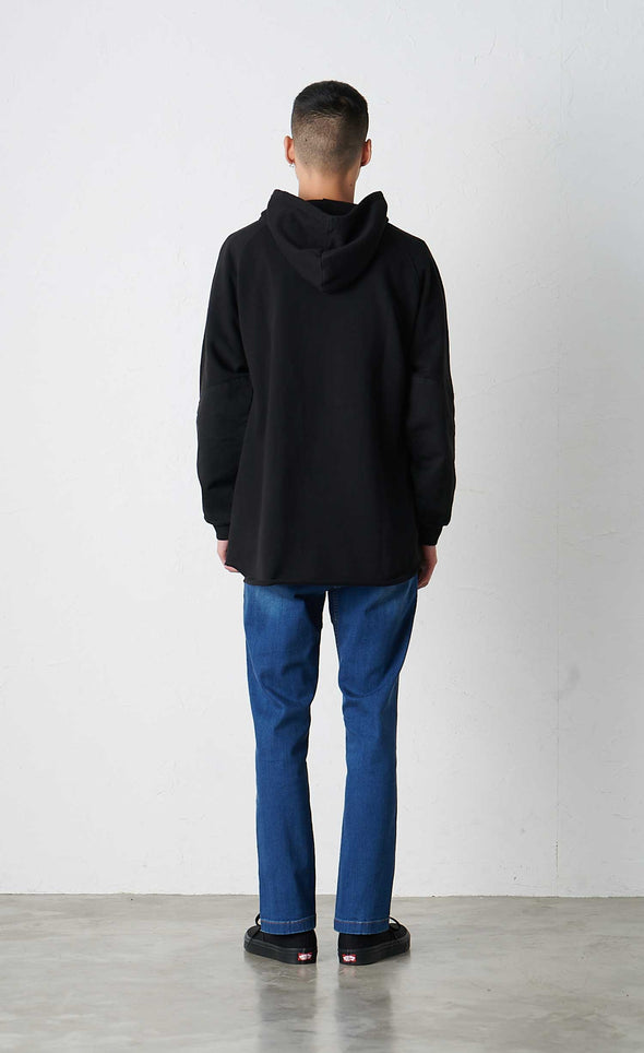 Male Model wearing Gramicci Talecut Hooded Parka (Black) Rear View