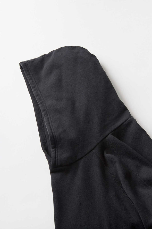 Gramicci Talecut Terry Cotton Hooded Parka (Black) Hood Detail