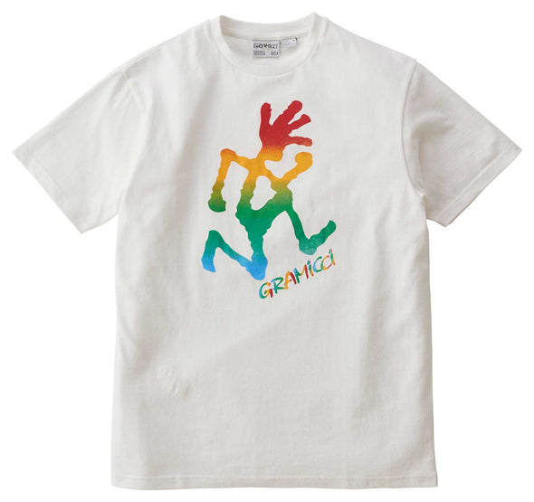 Gramicci Tie Dye Running Man Tee Cotton T-shirt (White)