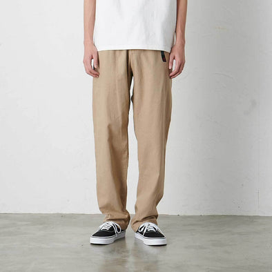 Model wearing Linen Cotton Gramicci Pants