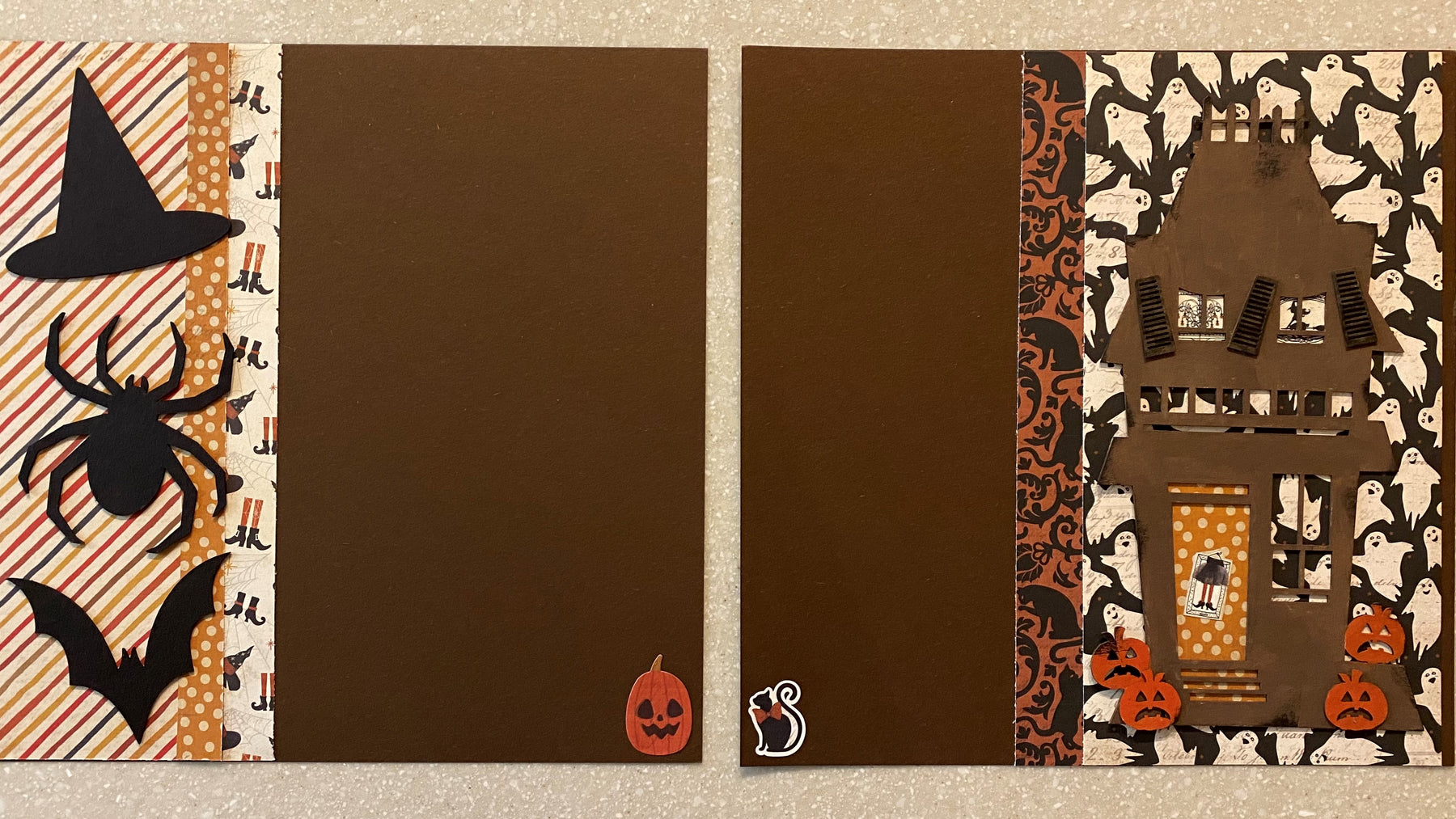 Create a fun Halloween two page layout with eco friendly supplies!
