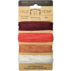 Hemptique Hemp Cord Card Coral Reef