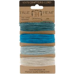 Hemptique Hemp Cord Card Aquamarine