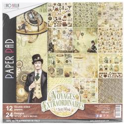 Ciao Bella 12 x 12 Paper Pack Voyages Extraordinaires