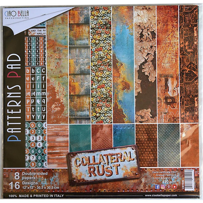 Ciao Bella 12 x 12 Paper Pack Collateral Rust