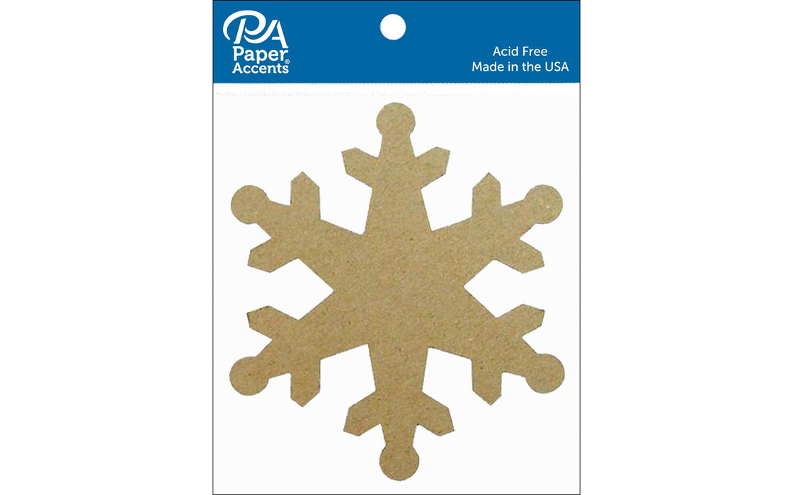 Paper Accents Chip Shape Snowflake Natural