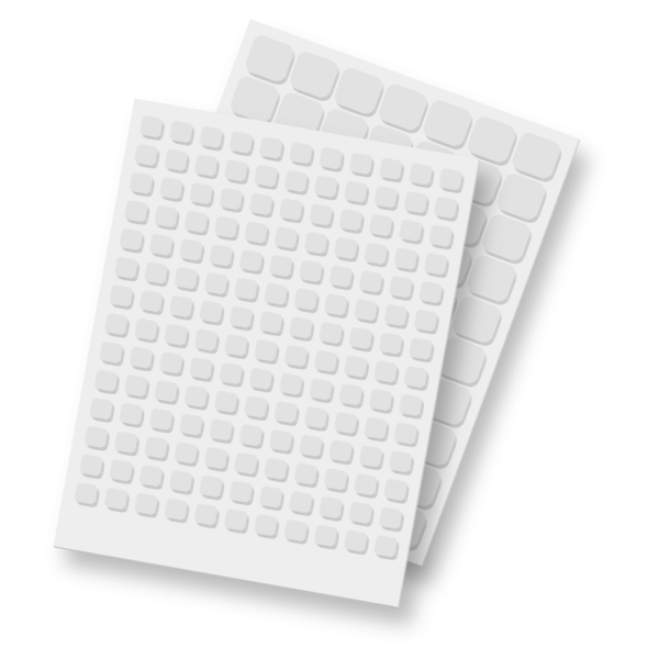 Scrapbook Adhesives - 3D Foam Squares - White Mix