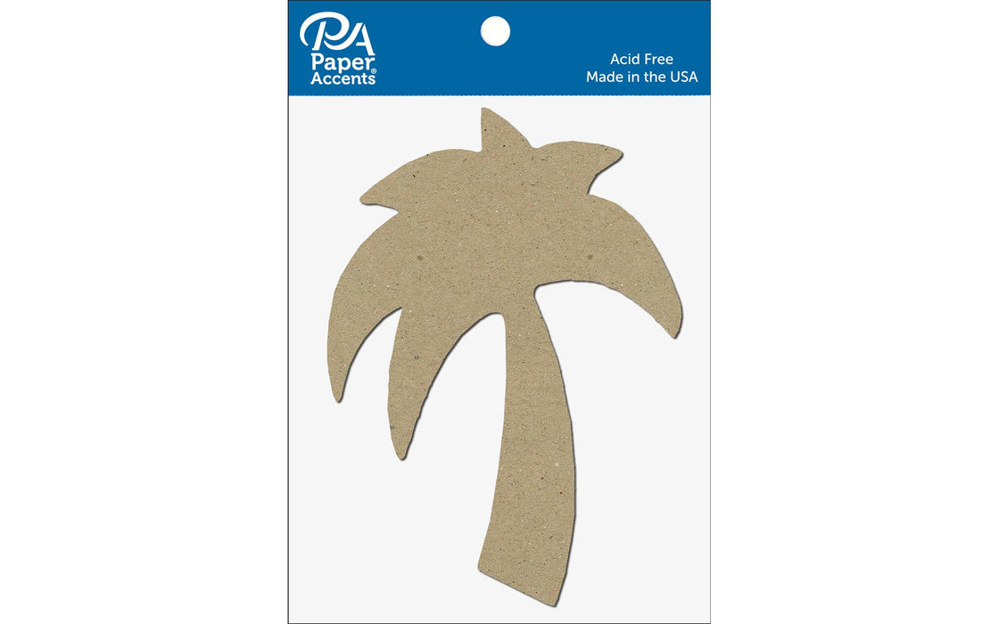 Paper Accents Chip Shape Palm Tree