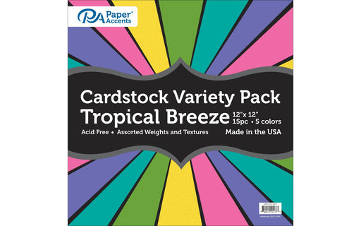 "Paper Accents Cardstock Variety Pack 12x12"" Tropical Breeze"
