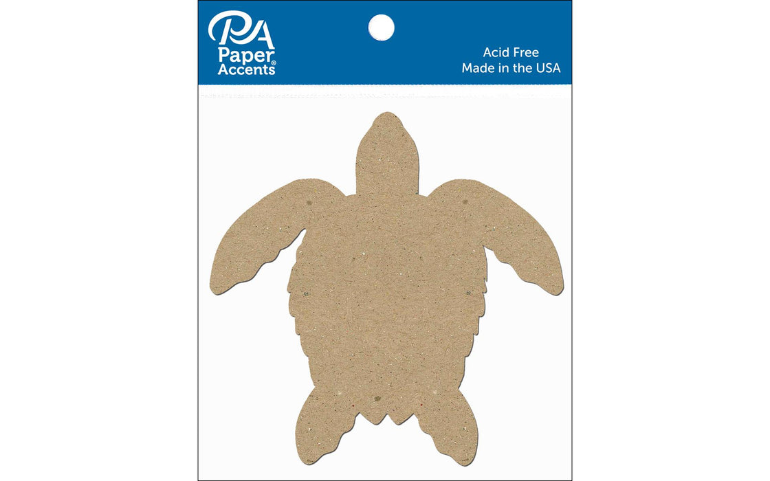 Paper Accents Chip Shape Sea Turtle Natural 8pc