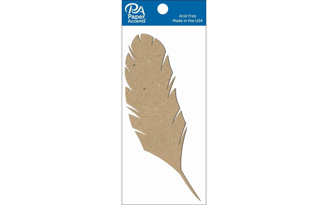 Paper Accents Chip Shape Feather