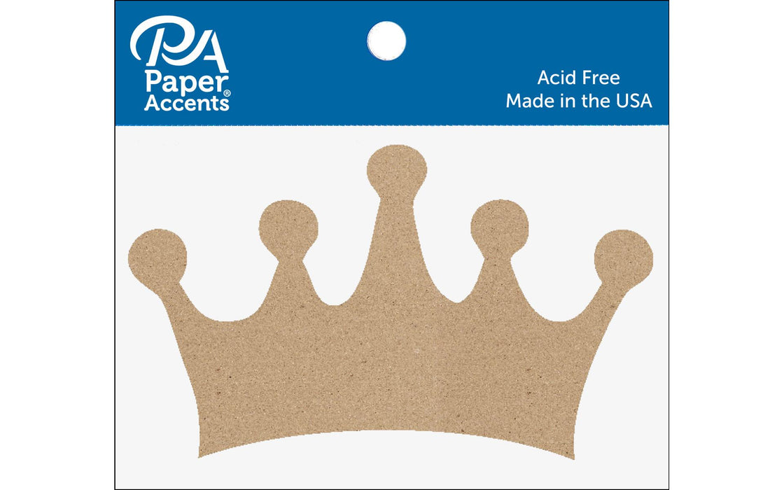Paper Accents Chip Shape Classic Crown