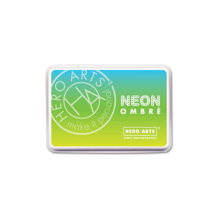 Hero Arts Ombre Neon Chartreuse to Blue Stamp Pad