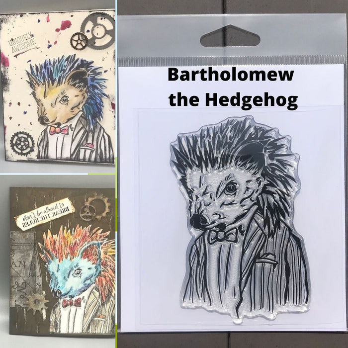 Bartholomew the Hedgehog Photopolymer Stamp