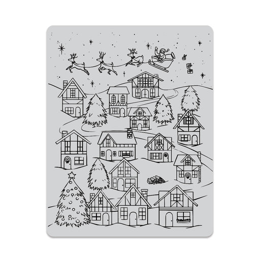 Hero Arts Winter Village Peek-A-Boo Cling