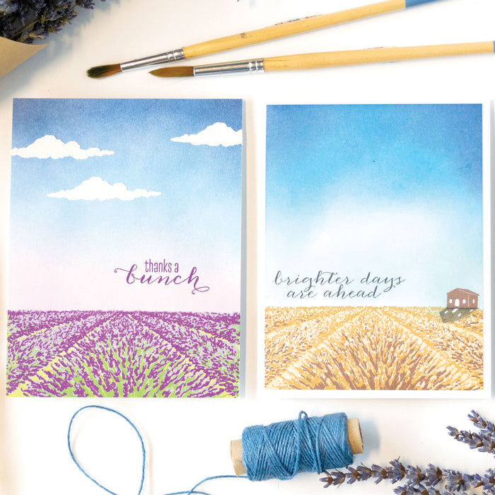 Hero Arts Lavender Field Color Layering Stamps