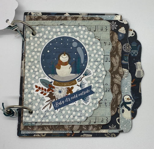 Predecorated Baby It's Cold Outside Chipboard Album!