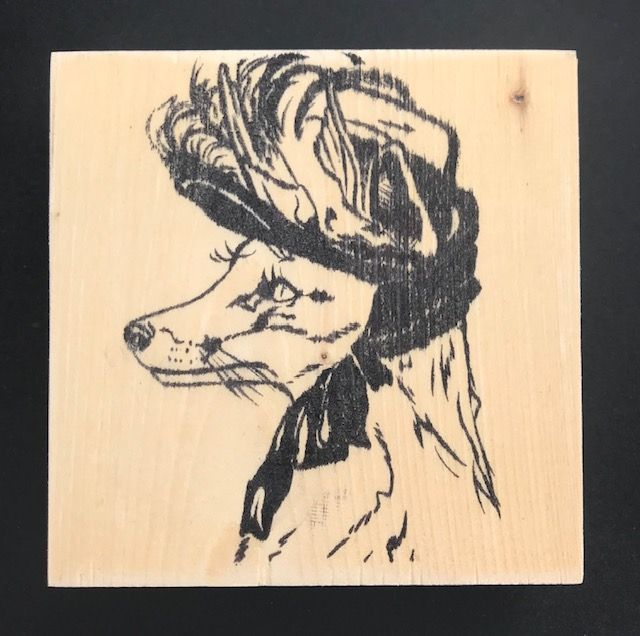 Reclaimed Wood Rubber Stamp - Lucrecia the Fox